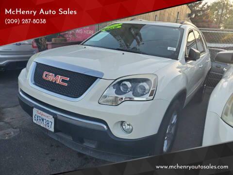 2012 GMC Acadia for sale at McHenry Auto Sales in Modesto CA