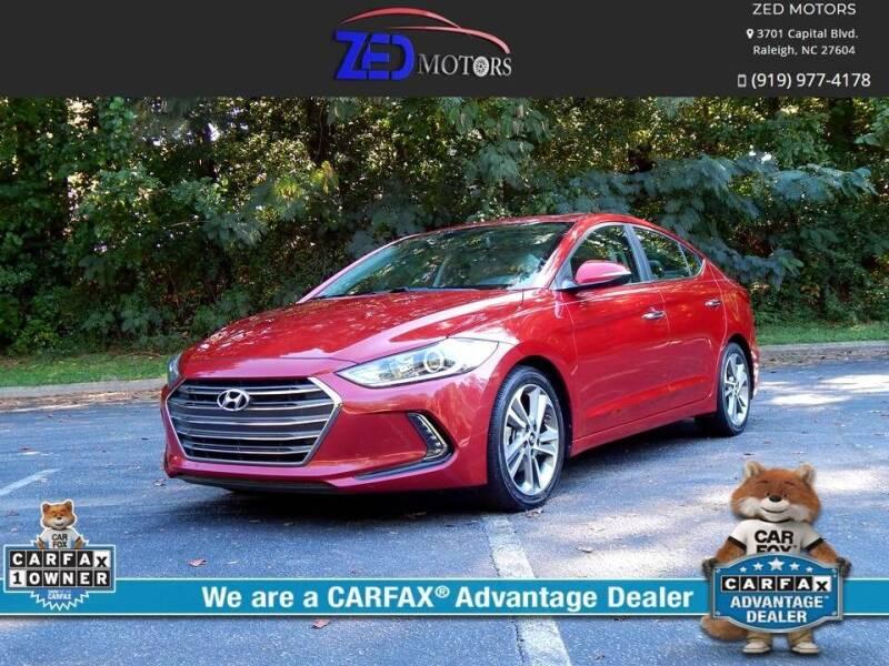 2017 Hyundai Elantra for sale at Zed Motors in Raleigh NC