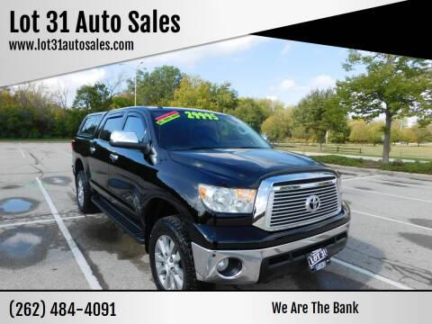 2013 Toyota Tundra for sale at Lot 31 Auto Sales in Kenosha WI