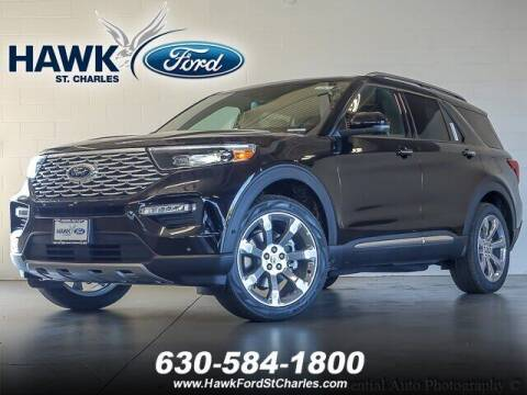 2020 Ford Explorer for sale at Hawk Ford of St. Charles in St Charles IL