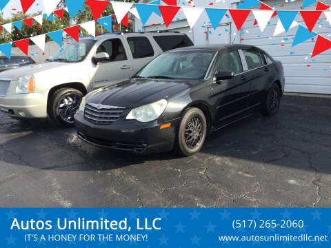 2008 Chrysler Sebring for sale at Autos Unlimited, LLC in Adrian MI