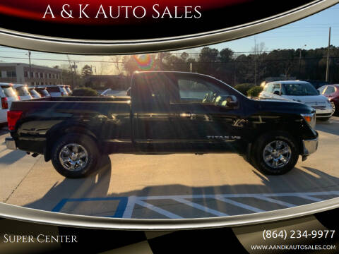 2018 Nissan Titan for sale at A & K Auto Sales in Mauldin SC