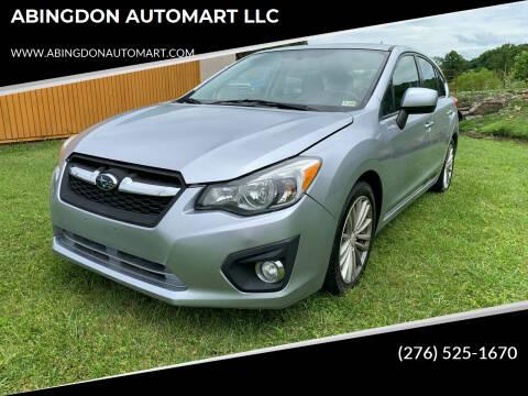 2012 Subaru Impreza for sale at ABINGDON AUTOMART LLC in Abingdon VA