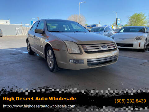 2007 Ford Fusion for sale at High Desert Auto Wholesale in Albuquerque NM