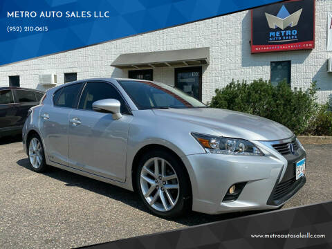 2015 Lexus CT 200h for sale at METRO AUTO SALES LLC in Blaine MN