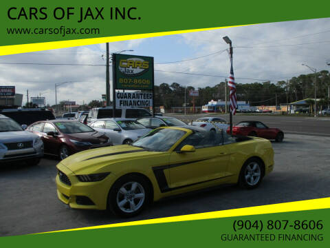2016 Ford Mustang for sale at CARS OF JAX INC. in Jacksonville FL