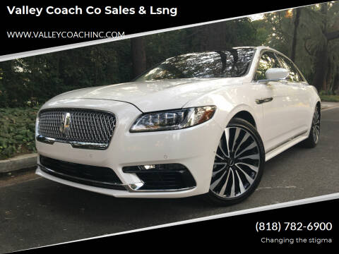 2019 Lincoln Continental for sale at Valley Coach Co Sales & Lsng in Van Nuys CA