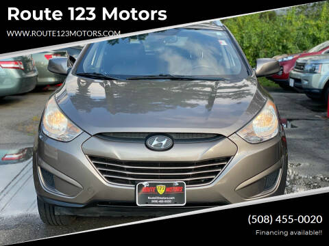 2010 Hyundai Tucson for sale at Route 123 Motors in Norton MA