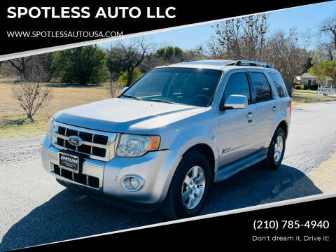 2010 Ford Escape Hybrid for sale at SPOTLESS AUTO LLC in San Antonio TX