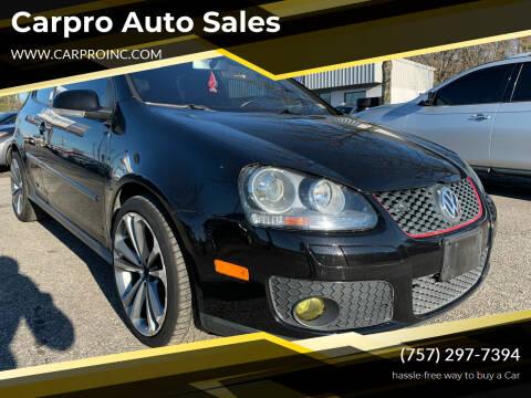 2007 Volkswagen GTI for sale at Carpro Auto Sales in Chesapeake VA