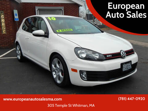 2010 Volkswagen GTI for sale at European Auto Sales in Whitman MA