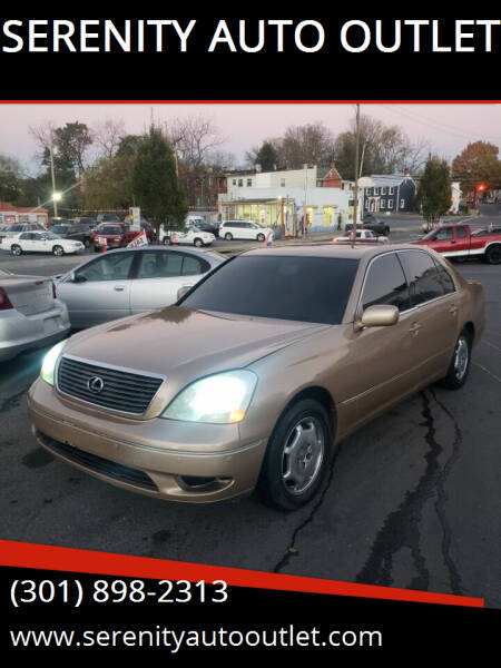 2002 Lexus LS 430 for sale at SERENITY AUTO OUTLET in Frederick MD