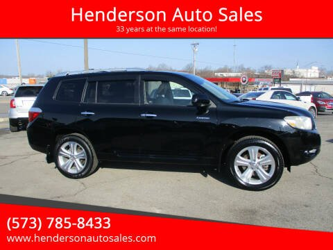 2009 Toyota Highlander for sale at Henderson Auto Sales in Poplar Bluff MO