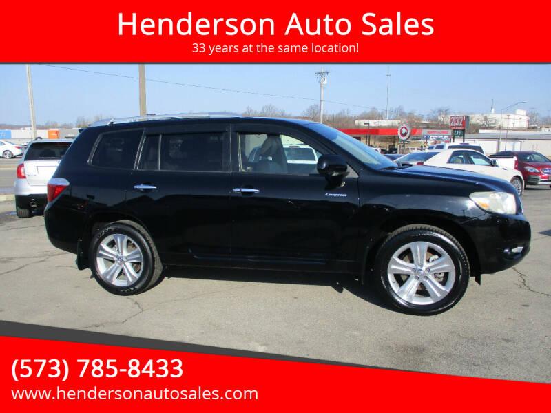 2009 Toyota Highlander for sale at Henderson Auto Sales in Poplar Bluff MO