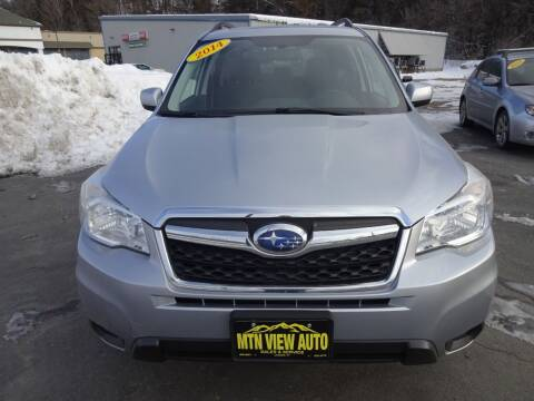 2014 Subaru Forester for sale at MOUNTAIN VIEW AUTO in Lyndonville VT