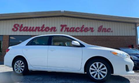 2012 Toyota Corolla for sale at STAUNTON TRACTOR INC in Staunton VA