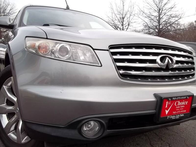 2004 Infiniti FX35 for sale at 1st Choice Auto Sales in Fairfax VA