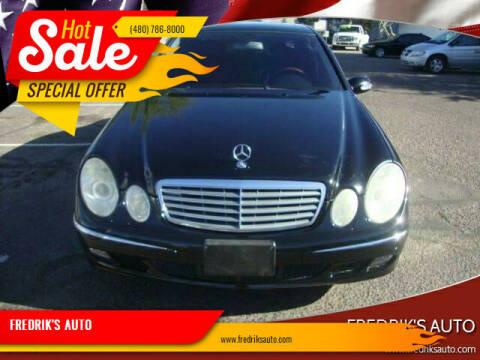 2006 Mercedes-Benz E-Class for sale at FREDRIK'S AUTO in Mesa AZ