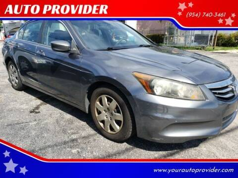2011 Honda Accord for sale at AUTO PROVIDER in Fort Lauderdale FL