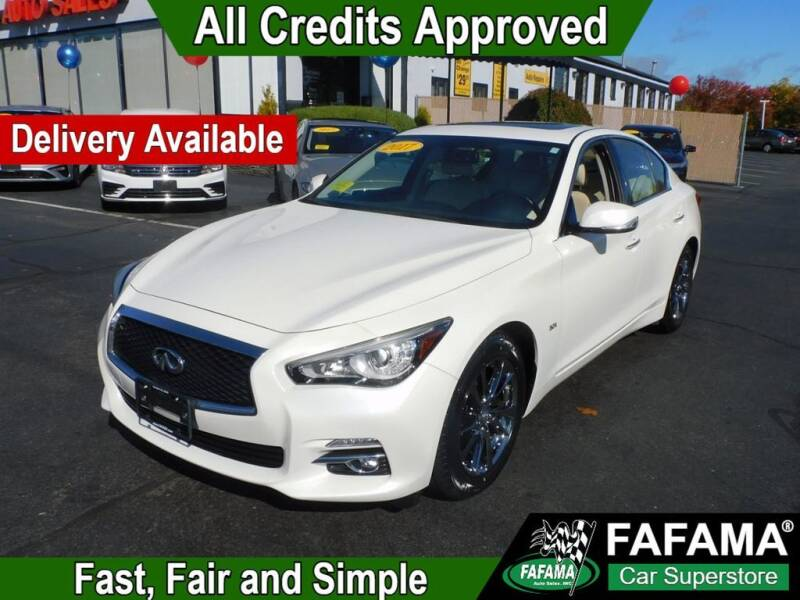 2017 Infiniti Q50 for sale at FAFAMA AUTO SALES Inc in Milford MA