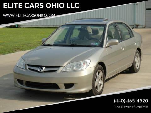 2005 Honda Civic for sale at ELITE CARS OHIO LLC in Solon OH