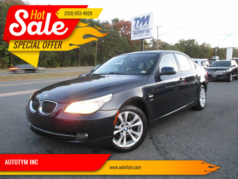 2010 BMW 5 Series for sale at AUTOTYM INC in Fredericksburg VA