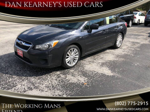 2013 Subaru Impreza for sale at DAN KEARNEY'S USED CARS in Center Rutland VT