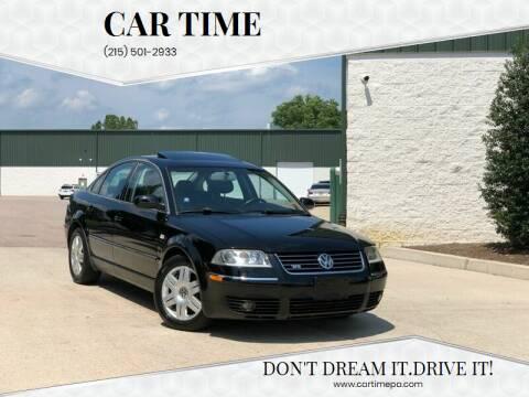 2003 Volkswagen Passat for sale at Car Time in Philadelphia PA
