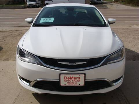 2015 Chrysler 200 for sale at DeMers Auto Sales in Winner SD