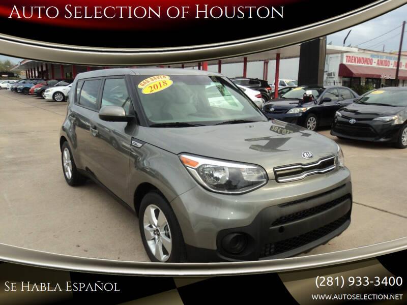 2018 Kia Soul for sale at Auto Selection of Houston in Houston TX