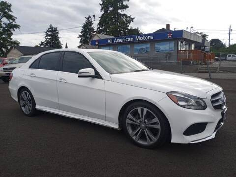 2016 Mercedes-Benz E-Class for sale at All American Motors in Tacoma WA