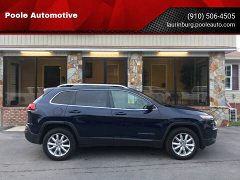 2014 Jeep Cherokee for sale at Poole Automotive in Laurinburg NC