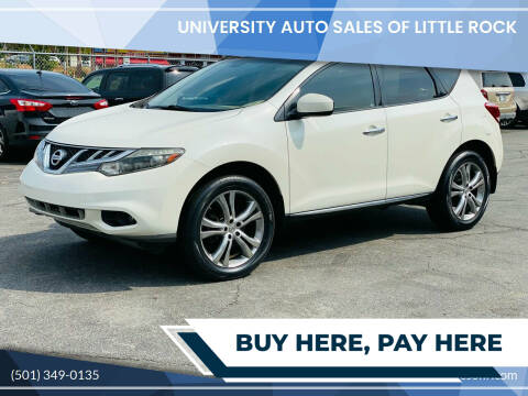2012 Nissan Murano for sale at University Auto Sales of Little Rock in Little Rock AR