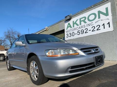 2002 Honda Accord for sale at Akron Motorcars Inc. in Akron OH