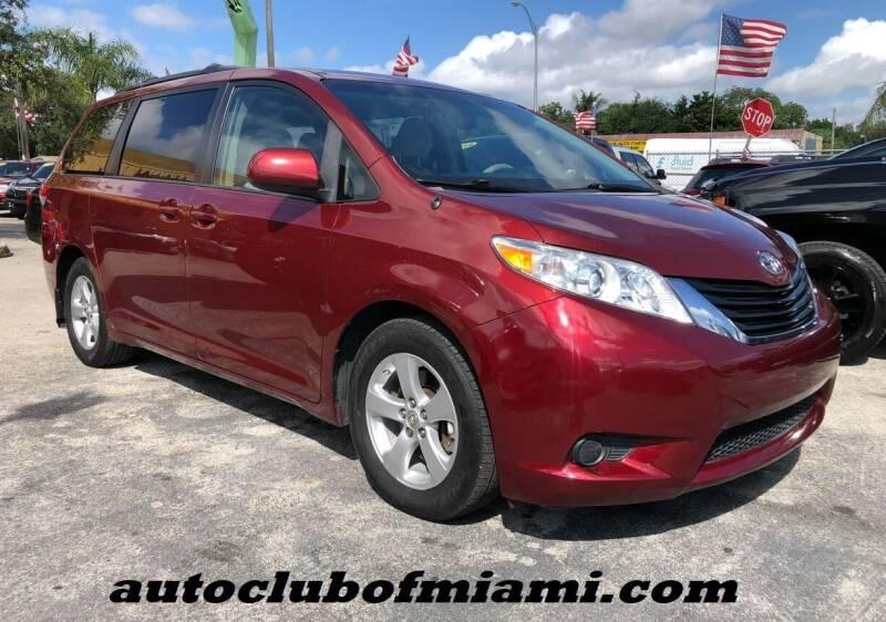 2014 Toyota Sienna for sale at AUTO CLUB OF MIAMI, INC in Miami FL