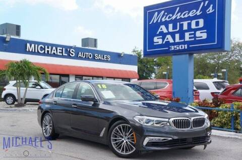 2018 BMW 5 Series for sale at Michael's Auto Sales Corp in Hollywood FL