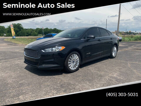 2014 Ford Fusion Hybrid for sale at Seminole Auto Sales in Seminole OK