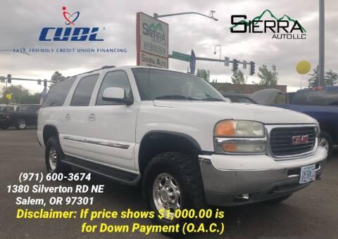 2003 GMC Yukon XL for sale at SIERRA AUTO LLC in Salem OR