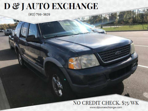 2002 Ford Explorer for sale at D & J AUTO EXCHANGE in Columbus IN