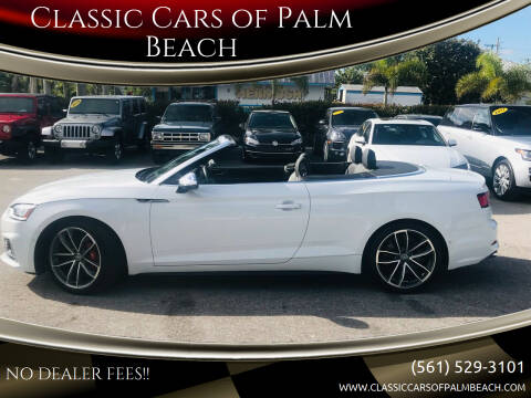 2019 Audi S5 for sale at Classic Cars of Palm Beach in Jupiter FL