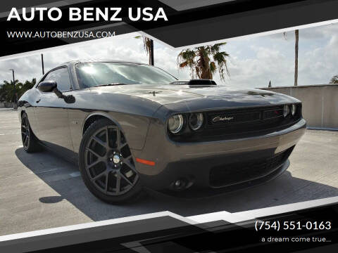 2016 Dodge Challenger for sale at AUTO BENZ USA in Fort Lauderdale FL