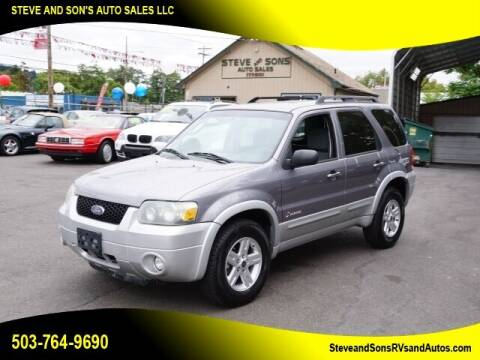2007 Ford Escape Hybrid for sale at Steve & Sons Auto Sales in Happy Valley OR