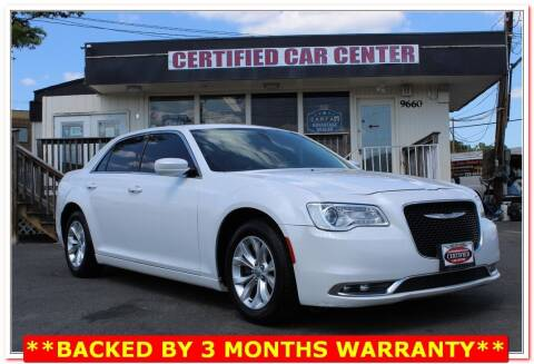 2016 Chrysler 300 for sale at CERTIFIED CAR CENTER in Fairfax VA