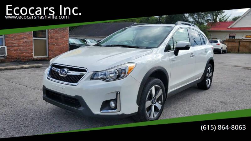 2016 Subaru Crosstrek for sale at Ecocars Inc. in Nashville TN