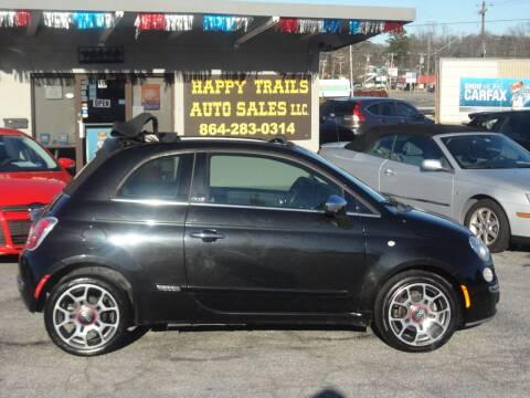 2012 FIAT 500c for sale at HAPPY TRAILS AUTO SALES LLC in Taylors SC