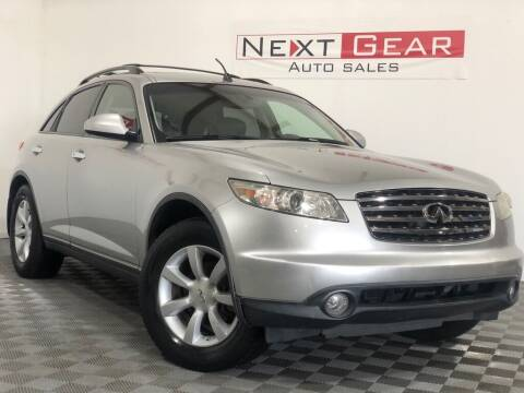 2005 Infiniti FX35 for sale at Next Gear Auto Sales in Westfield IN