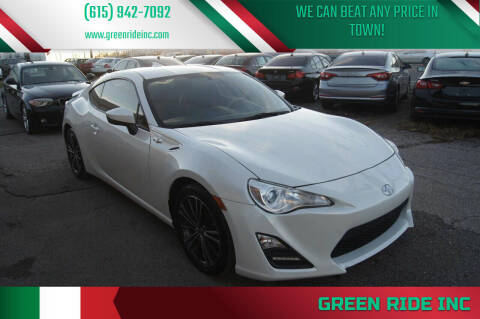 2014 Scion FR-S for sale at Green Ride Inc in Nashville TN