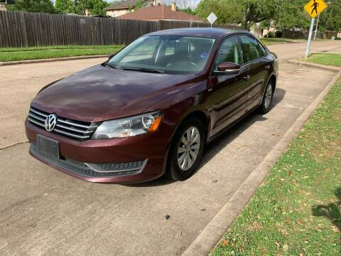 2014 Volkswagen Passat for sale at Demetry Automotive in Houston TX