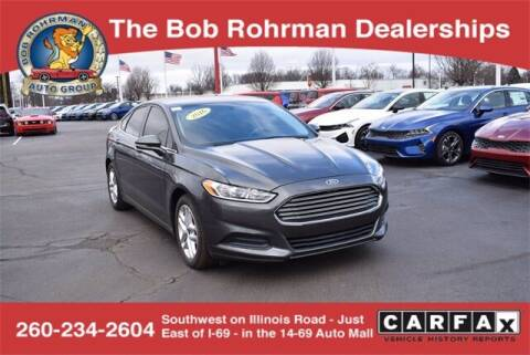 2016 Ford Fusion for sale at BOB ROHRMAN FORT WAYNE TOYOTA in Fort Wayne IN
