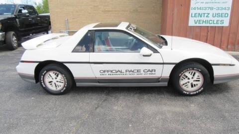 1984 Pontiac Fiero for sale at LENTZ USED VEHICLES INC in Waldo WI